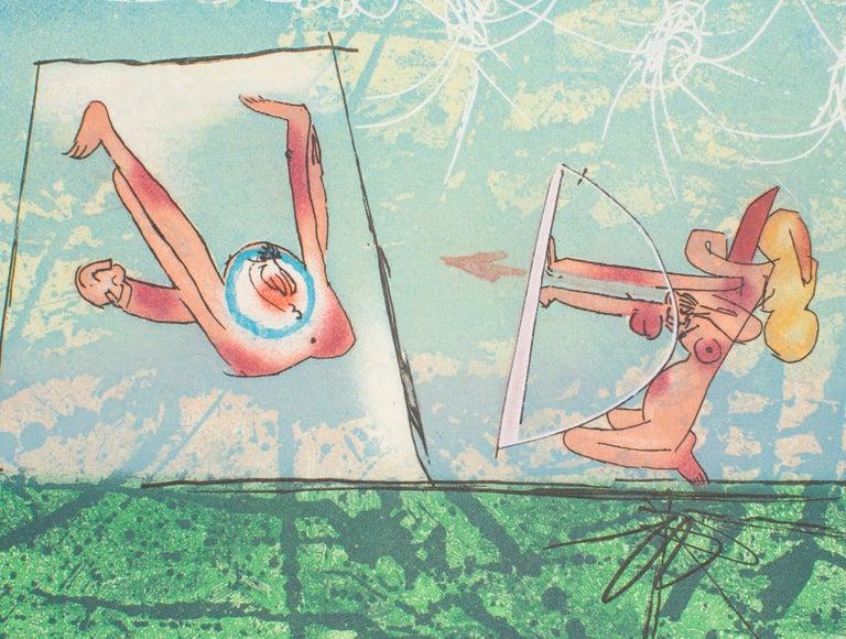 Archery – Original Etching by R.S. Matta- 1977 - Print by Roberto Matta