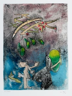 Centre Noeuds, Hand-Signed Limited Edition Etching
