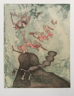 Così Fan Tutte III - Original Etching by Roberto Matta - 1970