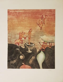 Così Fan Tutte - Original Etching by Roberto Matta - 1970