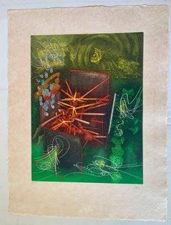 Je Suis Entact   Abstract Modern Art  Roberta Matta