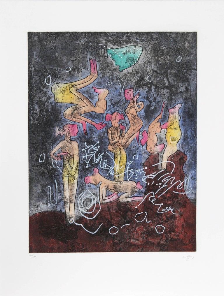L'ame du Tarot de Theleme Portfolio of 5 Aquatint Etchings by Matta For Sale 2