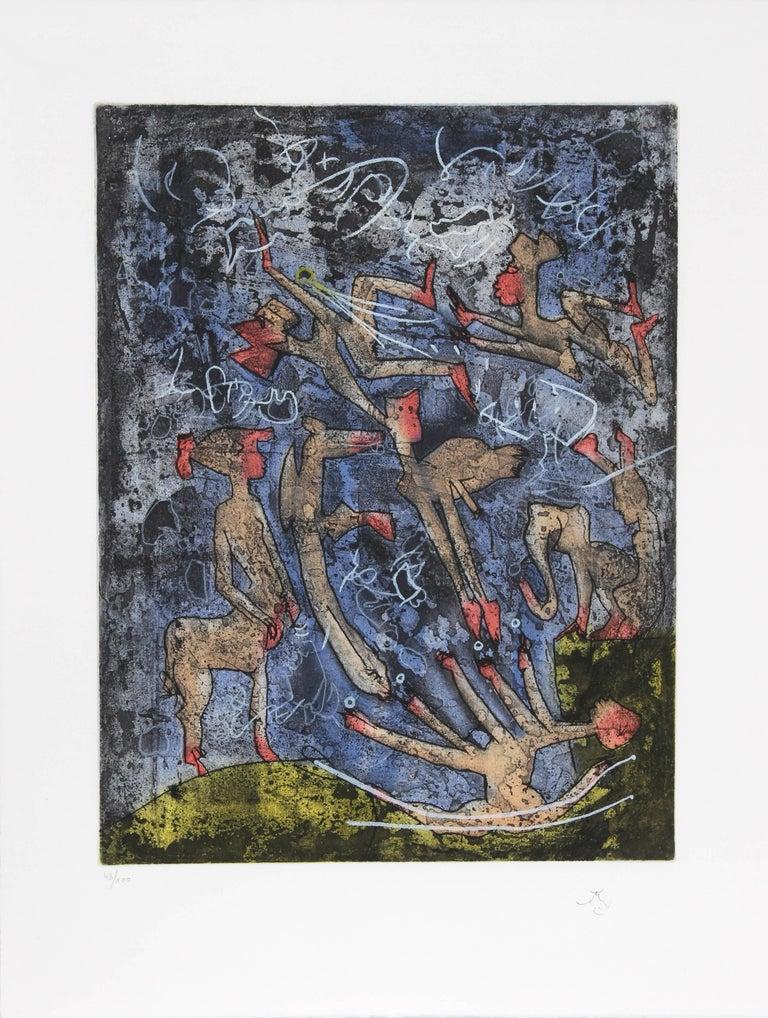 L'ame du Tarot de Theleme Portfolio of 5 Aquatint Etchings by Matta For Sale 3