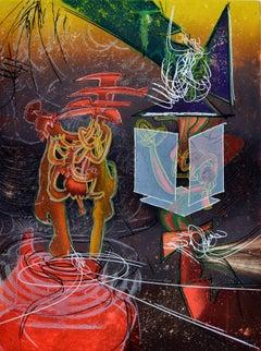 ROBERTO MATTA Une Saison en Enfer 1978 Artist Master Original Print Hand-Signed