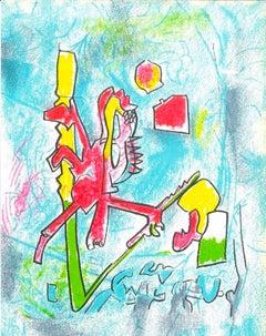 Tout se Tient - Original Lithograph by R.S. Matta - 1975