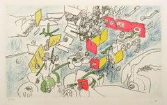 Un Pourquoi Final - Original Lithograph by Roberto Matta