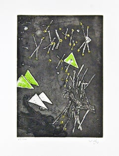Untitled - Original Etching by Roberto Matta