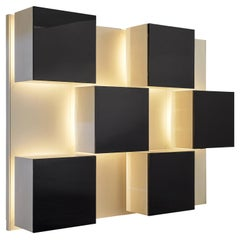 Roberto Monsani Illuminated Wall Unit for Acerbis