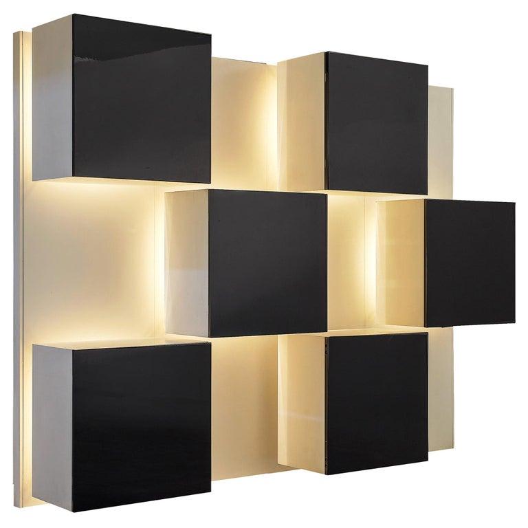 Roberto Monsani Illuminated Wall Unit For Sale