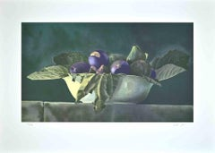 Still Life with Figs-Original Etching and Aquatint by Roberto Neri - 1980s