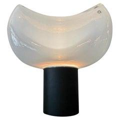 Roberto Pamio and Renato Toso Leucos Table Lamp Metal Murano Glass Italy, 1960s