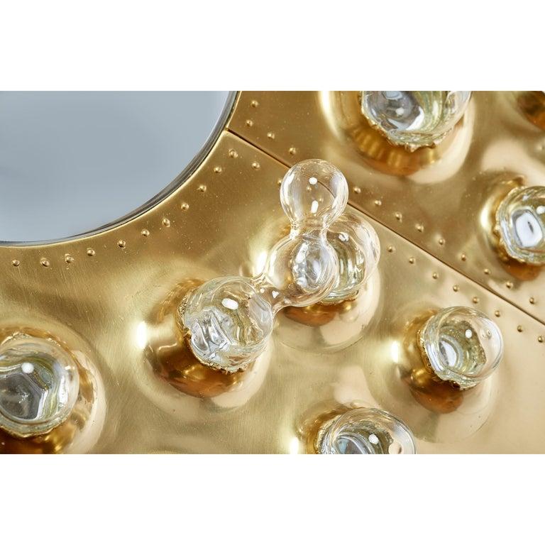 Roberto Rida and Simone Crestani: Gilt Bronze Hubble Bubble Mirror, Italy, 2019 For Sale 10