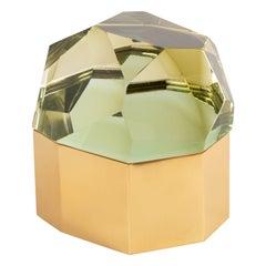 Roberto Rida Chartreuse 'Diamante Murano' Large Glass Box