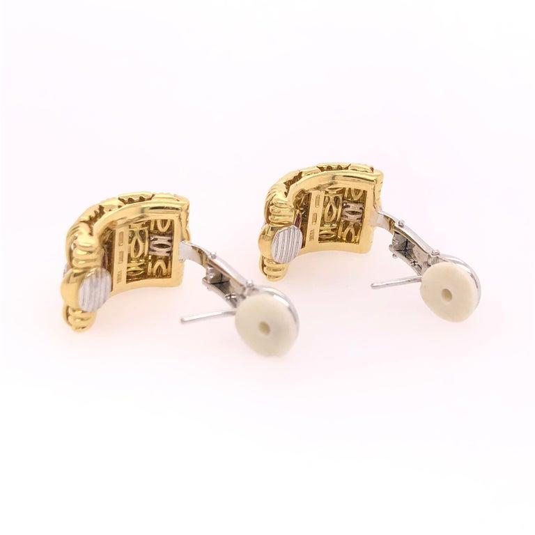 Women's Robeto Coin Yellow Gold Diamond Earrings For Sale