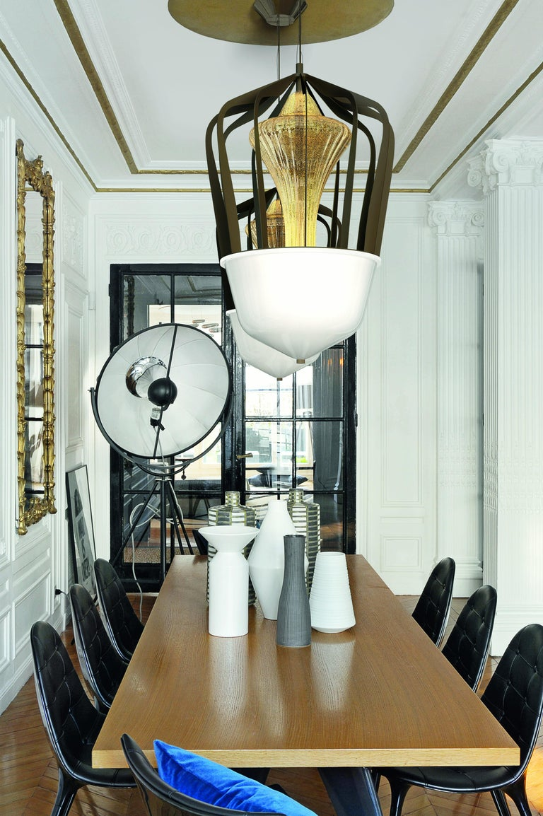 Robin 7280 Suspension Lamp in Glass with Bronze Finish, by Barovier&Toso For Sale 8