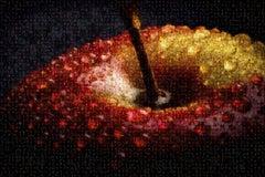 Apple Temptation Photomosaic, Acrylic