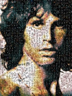 Jim Morrison ''Light My Fire'', Photomosaic, Acrylic