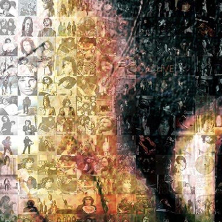 Jim Morrison ''Light My Fire'', Photomosaic, Acrylic - Contemporary Photograph by Robin Austin
