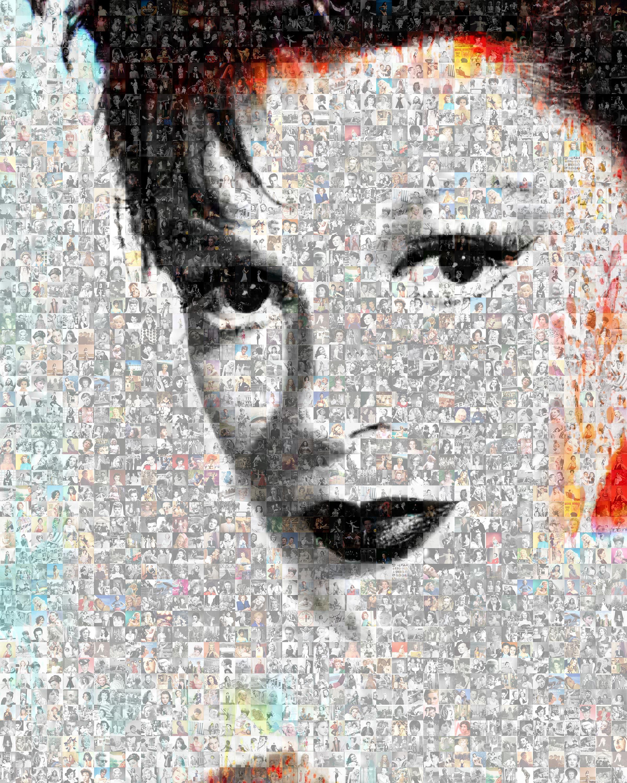 Judy Garland, Photomosaic, Acrylic