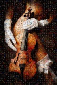 The Erotic Violin Photomosaic, Acrylic