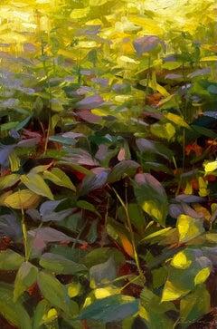 """Raspberry Greens"" Oil Painting"