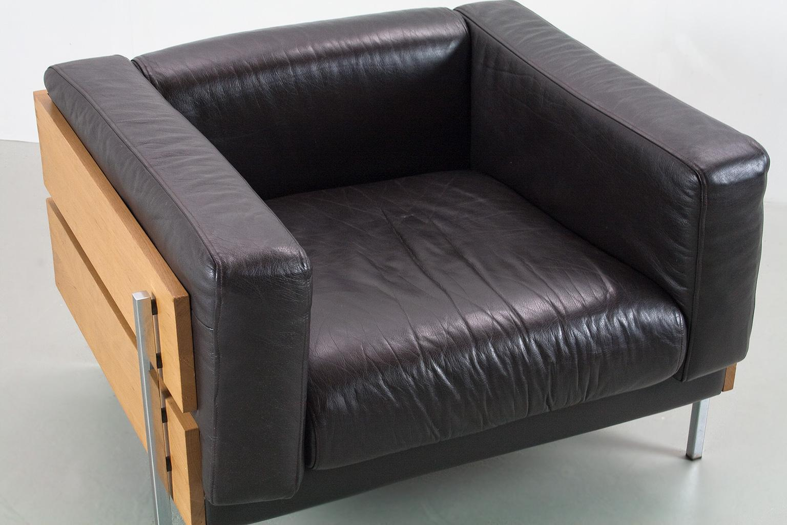 Superb Robin Day Days Forum Lounge Or Club Chair In Brown Leather Ibusinesslaw Wood Chair Design Ideas Ibusinesslaworg