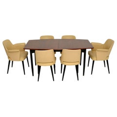 Robin Day for Hille Stamford Dining Suite in Leather & Wood