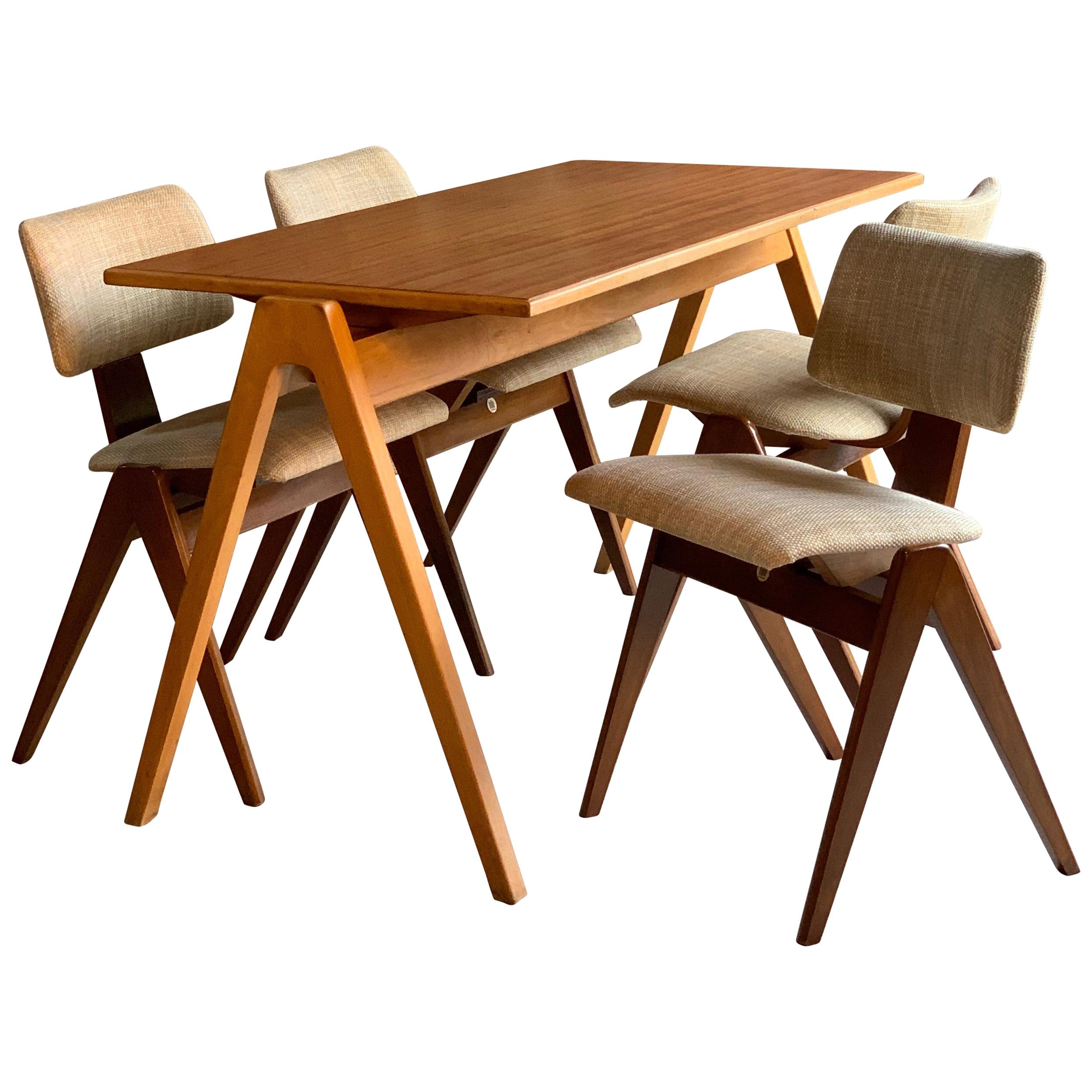Robin Day Hillestak Dining Table U0026 Chairs By Hille Midcentury Design, Circa  1950