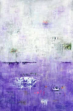 Purple Dawn, Mixed Media on Canvas