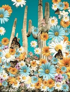 Desert Blooms, Digital on Canvas