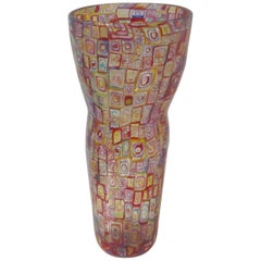 Robin Mix 2003 Mosaic Glass Vase Monumental Size