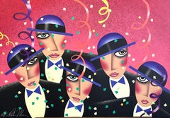 CAST PARTY Signed Lithograph, Fun Party Portrait, Theater Broadway Show
