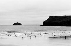 Tiny Surfers in the Celtic Sea, Polzeath, England, UK, 2010