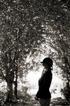 Woman in Driveway, Oak Street, Bridgehampton, NY, 2007