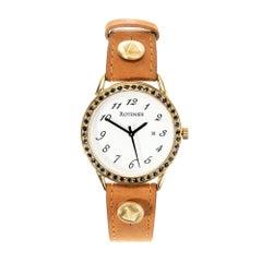 Robin Rotenier Yellow Gold Sapphire Bezel Wristwatch