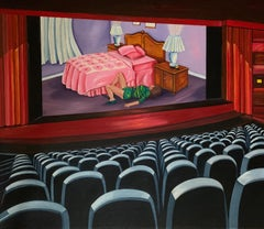 Movie Theatre #6 I'm Sorry, Acrylic Painting, Canvas, Oil Painting, Signed