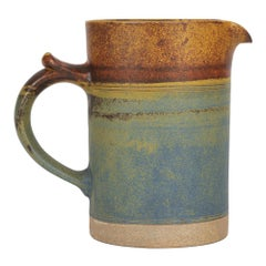 Robin Welch Large Glazed Stoneware Studio Pottery Jug