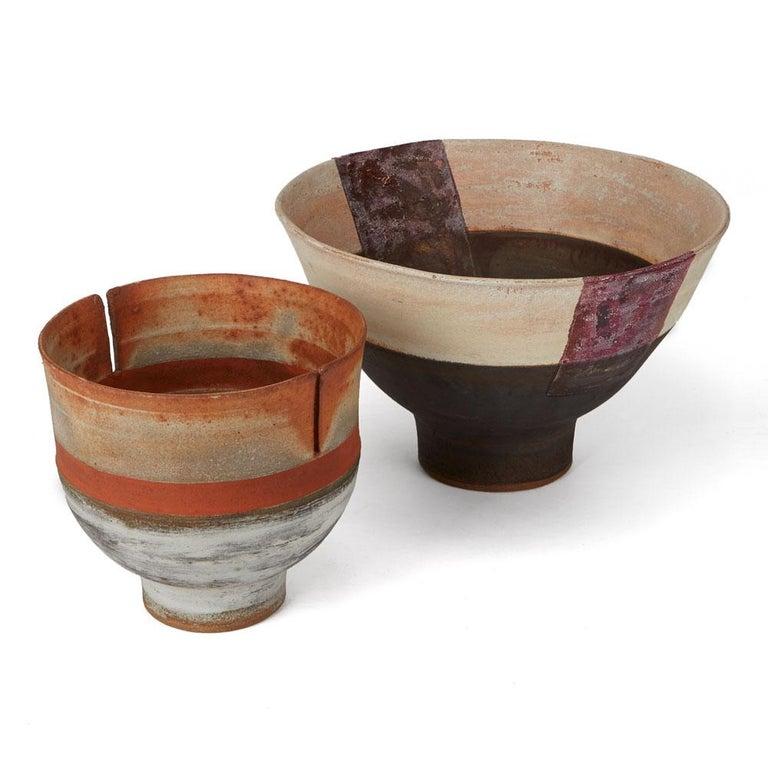 Robin Welch Orange Glazed Studio Pottery Footed Bowl 20th Century 6