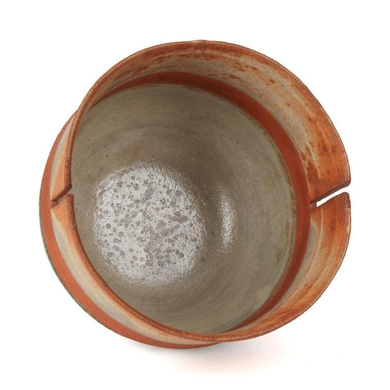 Robin Welch Orange Glazed Studio Pottery Footed Bowl 20th Century 2