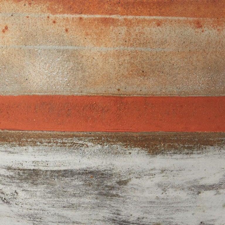 Robin Welch Orange Glazed Studio Pottery Footed Bowl 20th Century 5