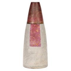 Robin Welch Studio Pottery Panel Glazed Stonware Graduated Cylindrical Vase