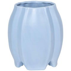 Robins Egg Blue Matte Glaze Art Deco Vase
