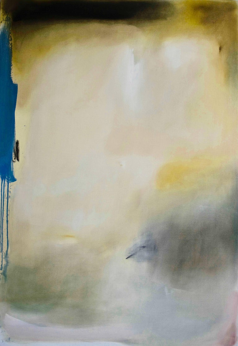 Bergen, 2015, Oil on linen, 63 × 43 3/10 in; 160 × 110 cm by Robinson & McMahon  As a collaboration of two artists painting on the same canvas, with very different methods of using paint, Jason Robinson and Helen McMahon are guided by reaction and