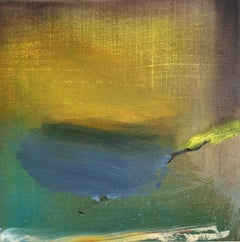 Fort: Small minimal oil painting on board, reminiscent of Turner