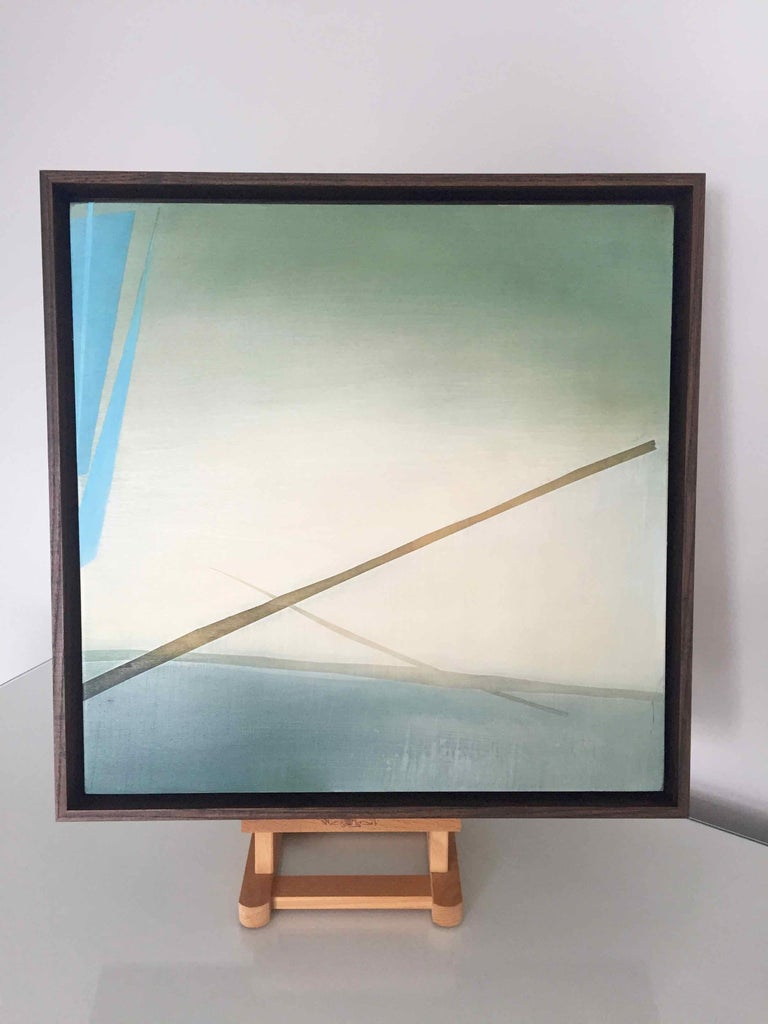 The Fog Sticks Around: Atmospheric Oil Painting, Robinson McMahon Collaboration For Sale 2