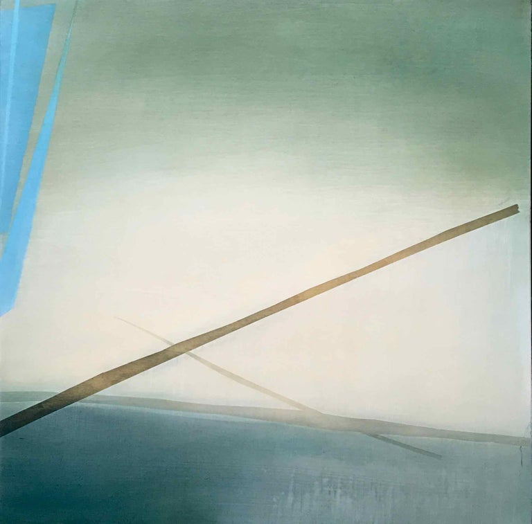 Robinson & McMahon Abstract Painting - The Fog Sticks Around: Atmospheric Oil Painting, Robinson McMahon Collaboration