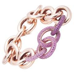 Robinson Pelham Pink Sapphire and Ruby River Link Bracelet