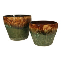 "Robinson Ransbottom ""Sunrise / Sunset"" Jardinieres, Set of Two"