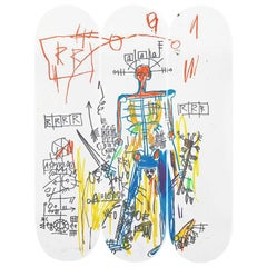 Roboter-Skateboard-Flächen nach Jean-Michel Basquiat