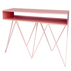 Robot Too Tall Steel Sideboard Console Table in Pink